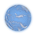Pacific ocean on planet earth blue white background highly detailed surface elements of this image furnished by nasa Stock Photography
