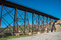 Pacific ocean railroad tressel at a state park Royalty Free Stock Photography