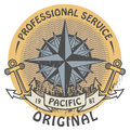 Pacific original stamp grunge rubber with the words written inside the Stock Image