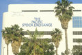 The pacific stock exchange in los angeles california Stock Photography