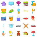 Pacification icons set, cartoon style Royalty Free Stock Photo