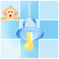 Pacifier for baby illustration of Stock Image