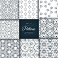 Pack of abstract patterns in floral style Royalty Free Stock Photo
