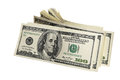 Pack american money white background Stock Image