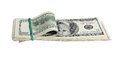 Pack american money white background Royalty Free Stock Photo