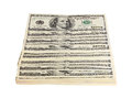 Pack american money white background Stock Images