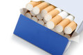 Pack of cigarettes Stock Photos
