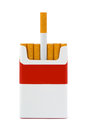 Pack cigarettes isolated white background Royalty Free Stock Photography