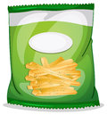 A pack of crispy french fries illustration on white background Royalty Free Stock Photos