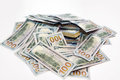 Pack of dollars in a pile of money Royalty Free Stock Photo