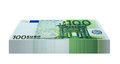 Pack of euro banknotes eurobanknotes isolated on white background Stock Photos