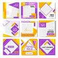 Pack for Fashion Yellow Pink Instagram Flyers