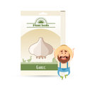 Pack of garlic seeds icon