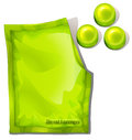 A pack of green throat lozenges illustration on white background Stock Photo