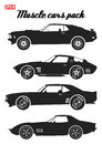 Pack of muscle car icons 1