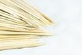 A pack of sharpen bamboo sticks plenty new Stock Image