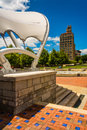 Pack square park and the jackson building in asheville north ca carolina Royalty Free Stock Image