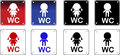 Pack of toilet signs Stock Photography