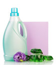 Pack washing powder and liquid bottle, wash gel capsules . Royalty Free Stock Photo