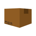 Package box delivery shipping icon. Vector graphic Royalty Free Stock Photo