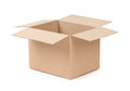 Package Box Opened Royalty Free Stock Photo