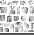 Packages vector set of and wrapping Stock Photography