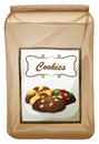 Packaging design with bag of cookies Royalty Free Stock Photo
