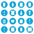 Packaging icon blue