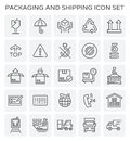 Packaging shipping icon