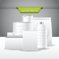 Packaging templates set of empty and blank for food and beverage products Royalty Free Stock Images