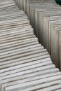 Packed cement building slabs paving ready for installation at a construction site Royalty Free Stock Image