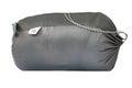 Packed sleeping bag on white background Stock Image