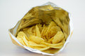 A packet of crinkle cut chips potato or crisps Royalty Free Stock Photos