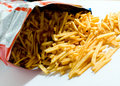 Packet of French Fries Royalty Free Stock Photo