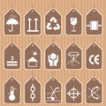 Packing and shipping symbols vector set symbol for international usage Royalty Free Stock Image