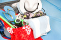 Packing a suitcase Royalty Free Stock Photo