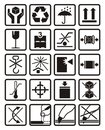 Packing symbols Royalty Free Stock Photo