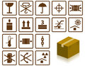 Packing symbols Royalty Free Stock Photo