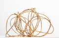 Packing twine on white background Royalty Free Stock Image