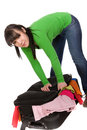 Packing woman Stock Image
