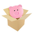 Packing your savings illustration design over a white background Stock Image