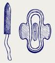 Pad and tampon set Royalty Free Stock Photo