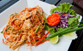 Pad Thai Chicken Royalty Free Stock Photography