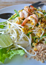 Pad thai fry rice noodle food of thailand southeast asia Stock Images