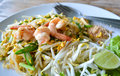Pad thai fry rice noodle food of thailand southeast asia Royalty Free Stock Image