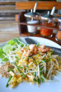 Pad thai fry rice noodle food of thailand southeast asia Stock Photography