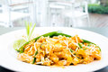 Pad thai s style fried noodle Royalty Free Stock Images