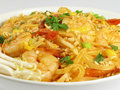 Pad Thai with Shrimp Royalty Free Stock Photos