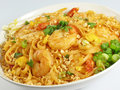 Pad Thai and Shrimp Royalty Free Stock Image