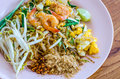 Pad thai stir fried rice noodles one of famous thailand dish Royalty Free Stock Image